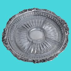Wallace Baroque Gallery Tray 5 Compartment Liner Silverplate