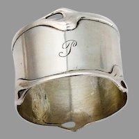 German 800 Silver Napkin Ring Vereinigte Silberwarenfabriken Mono