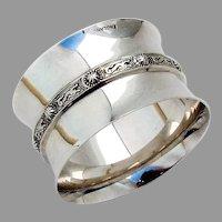 Elkington Celtic Dragon Napkin Ring Sterling Silver 1967 Birmingham