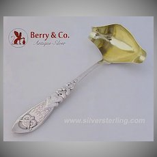 Arts and Crafts Owl Gravy Ladle Danish 830 Silver 1905