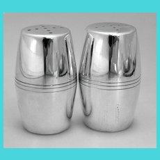 Porter Blanchard Salt & Pepper Shakers Large Sterling Handmade 1940