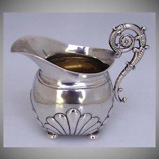 Baroque Creamer Northern European 800 Silver 1840