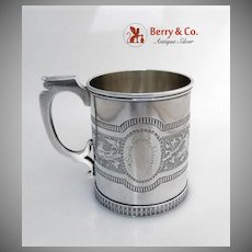Large Mug Coin Silver F W Cooper New  York 1850
