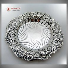 Repousse Coaster Gorham Sterling Silver 1891