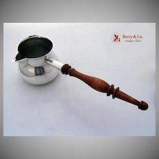 Sauce Pan Revere Sterling SIlver 1950 Turned Wood Handle
