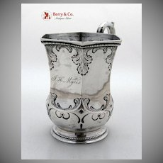 American Coin Silver Hexagonal Baby Cup 1850