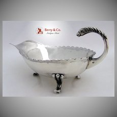 Eagle Handle Gravy Boat Mexican Sterling Silver 1950 No Monogram