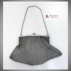 Ladies' Evening Mesh Purse Sterling Silver NY 1920
