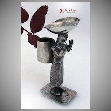South American Figural Bud Vase or Toothpick Holder 1900