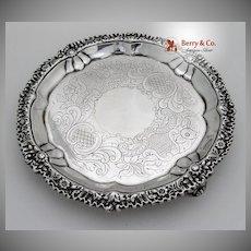Georgian Salver Sterling Silver London 1820