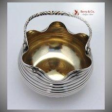 Aesthetic Sugar Basket Sterling Silver 1880