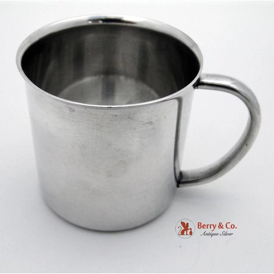 19423fbba589 Baby Cup Sterling Silver Towle 1930   Berry   Company Antique Silver ...