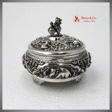 Indian Figural Dresser Box Sterling Silver 1900 No Monogram