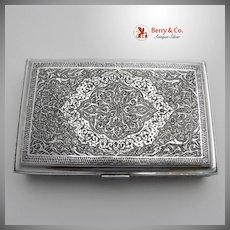Persian Solid Silver Cigarette Box 1890