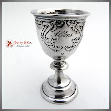 Antique Vodka Cup 800 Solid Silver 1880