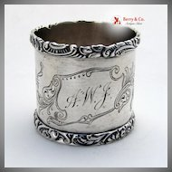 Sterling Silver Napkin Ring Wood and Hughes 1880