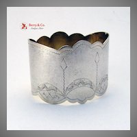 Russian 84 Standard Silver Napkin Ring 1920