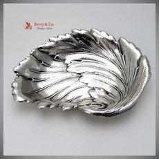 Leaf Form Serving Bowl International Sterling Silver 1940