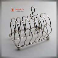 Georgian Toast Rack Sheffield Sterling Silver 1817