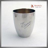Vintage Beaker 800 Solid Silver 1890
