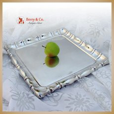 Vintage Large Square Tray Austrian 800 Standard Silver 1900