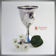 Coronado Country Club Trophy Goblet Greek Key Shreve Sterling Silver
