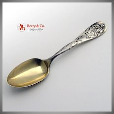Pipe Smoker Albany Souvenir Spoon Sterling Silver 1891