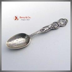 California Souvenir Spoon Los Angeles Bowl Mayer Bros Sterling Silver 1900