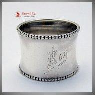 Beaded Napkin Ring Gorham Sterling Silver 1900