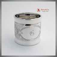 Coin Silver Engine Turned Napkin Ring 1860