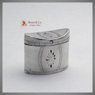 Dutch Peppermint Box 1815 Hat Box Form 833 Standard Silver