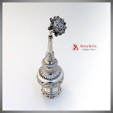 Asian Silver Rose Water Shaker 1900