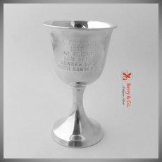 Golf Trophy Goblet Western Golf Association Amateur 1958 Sterling Silver