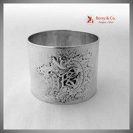 Baroque Ornate Napkin Ring 800 Silver 1900