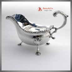 Sterling Silver Gravy Boat London 1912