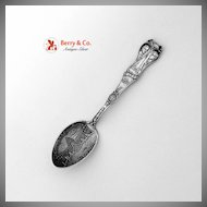 Jefferson and Napoleon Souvenir Spoon Louisiana Purchase Expo 1904 Sterling Silver1904