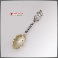 Nevada Souvenir Spoon Gold Pan Nuggets Burro 1908 Mayer Sterling SIlver