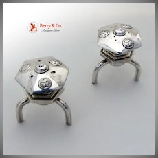 Toro Shakers Japanese Lantern Form 1940 Sterling Silver