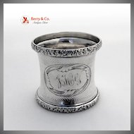American Coin Silver Napkin Ring Engine Turned 1860