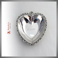 Vintage Heart Bowl Sterling Silver Fisher