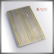 Art Deco Notepad Sterling Silver 14 K Multi Colored Gold Inlay