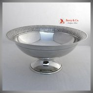Arabesque Style Sterling Center or Serving Bowl Dominick and Haff 1881