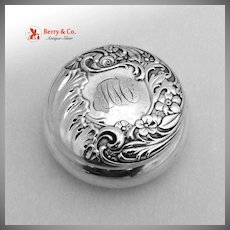 Pill Boc Floral Shell Scroll Frank Whiting 1900 Sterling Silver MMF