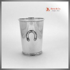 Official Kentucky Derby Mint Julep Cup Horseshoe  Sterling Silver BWK 1960