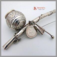 Bahian African Pot Ladle Gerson 835 Silver 1940