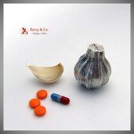 Garlic Shape Pill Box Sterling Silver