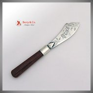 Master Butter Knife Sunstone Handle Sterling Silver Blade