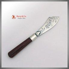 Master Butter Knife Sunstone Handle Sterling Silver Blade