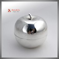 Sterling Silver Apple Figural Box Shreve Crump and Low Co 1920