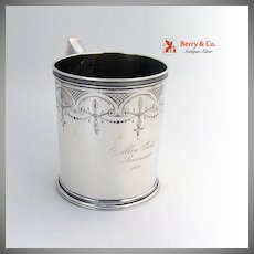 Coin Silver Large Cup Schulz and Fischer 1870 San Francisco